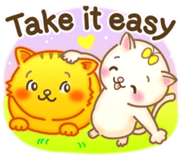 Cat couple -Thanks for your kind words- sticker #8098232