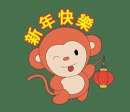 Monkey in Chinese New Year-Red Monkey sticker #8100156