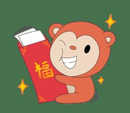 Monkey in Chinese New Year-Red Monkey sticker #8100157