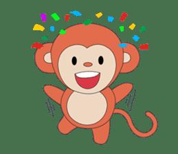 Monkey in Chinese New Year-Red Monkey sticker #8100158