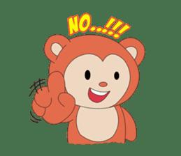 Monkey in Chinese New Year-Red Monkey sticker #8100162