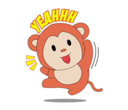 Monkey in Chinese New Year-Red Monkey sticker #8100164