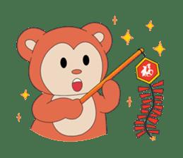 Monkey in Chinese New Year-Red Monkey sticker #8100165
