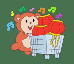 Monkey in Chinese New Year-Red Monkey sticker #8100166