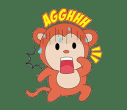 Monkey in Chinese New Year-Red Monkey sticker #8100168