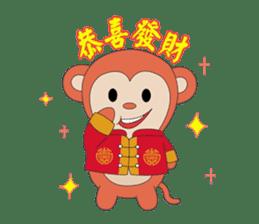 Monkey in Chinese New Year-Red Monkey sticker #8100169