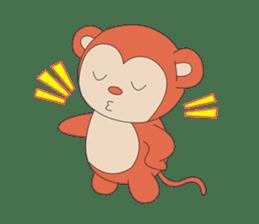 Monkey in Chinese New Year-Red Monkey sticker #8100170