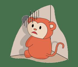 Monkey in Chinese New Year-Red Monkey sticker #8100171