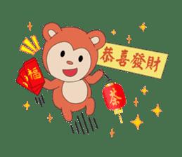 Monkey in Chinese New Year-Red Monkey sticker #8100173