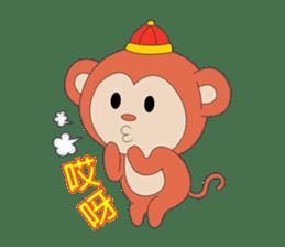 Monkey in Chinese New Year-Red Monkey sticker #8100176