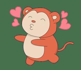 Monkey in Chinese New Year-Red Monkey sticker #8100179