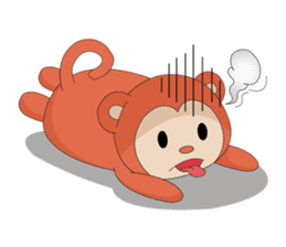 Monkey in Chinese New Year-Red Monkey sticker #8100181