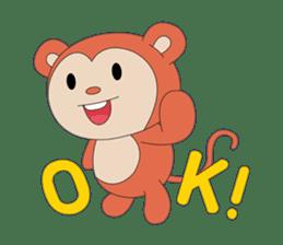 Monkey in Chinese New Year-Red Monkey sticker #8100182