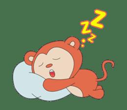 Monkey in Chinese New Year-Red Monkey sticker #8100184