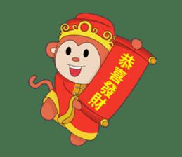 Monkey in Chinese New Year-Red Monkey sticker #8100187