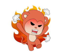 Monkey in Chinese New Year-Red Monkey sticker #8100188