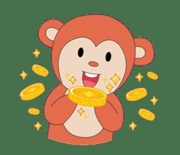 Monkey in Chinese New Year-Red Monkey sticker #8100190