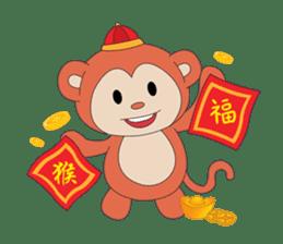 Monkey in Chinese New Year-Red Monkey sticker #8100192