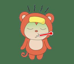 Monkey in Chinese New Year-Red Monkey sticker #8100193