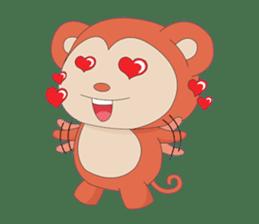 Monkey in Chinese New Year-Red Monkey sticker #8100194