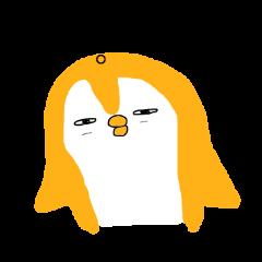 orange positive penguin
