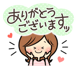 Sociable woman's stickers(large type) sticker #8119935
