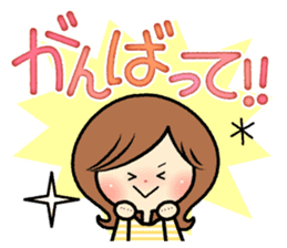 Sociable woman's stickers(large type) sticker #8119962