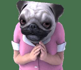 PUG mask Sticker (English) sticker #8120608