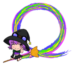 English witch Eiko. sticker #8139988