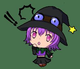 English witch Eiko. sticker #8139994
