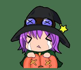 English witch Eiko. sticker #8140006