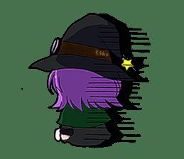 English witch Eiko. sticker #8140007