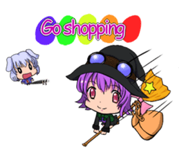 English witch Eiko. sticker #8140008