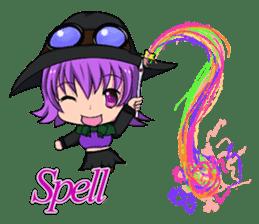 English witch Eiko. sticker #8140009