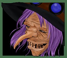 English witch Eiko. sticker #8140011