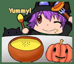 English witch Eiko. sticker #8140014