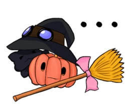 English witch Eiko. sticker #8140017