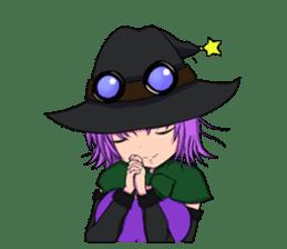 English witch Eiko. sticker #8140022