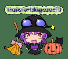 English witch Eiko. sticker #8140023