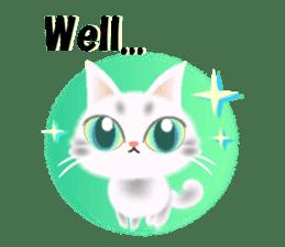 Pretty soft and fluffy cat. sticker #8152764