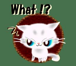 Pretty soft and fluffy cat. sticker #8152766