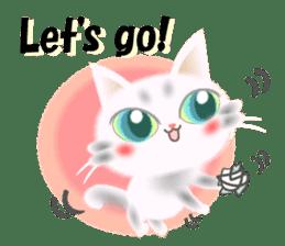 Pretty soft and fluffy cat. sticker #8152767
