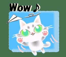 Pretty soft and fluffy cat. sticker #8152772