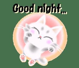 Pretty soft and fluffy cat. sticker #8152774