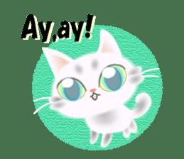 Pretty soft and fluffy cat. sticker #8152775