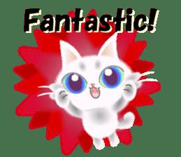 Pretty soft and fluffy cat. sticker #8152776