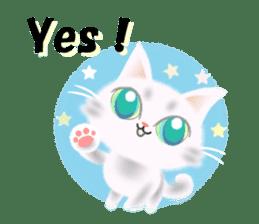 Pretty soft and fluffy cat. sticker #8152777
