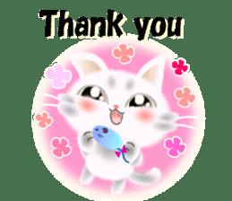 Pretty soft and fluffy cat. sticker #8152783