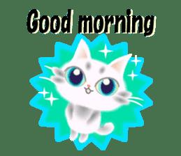Pretty soft and fluffy cat. sticker #8152786