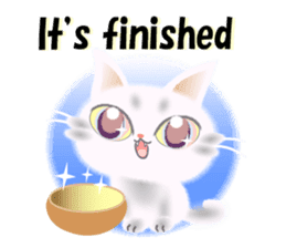 Pretty soft and fluffy cat. sticker #8152788
